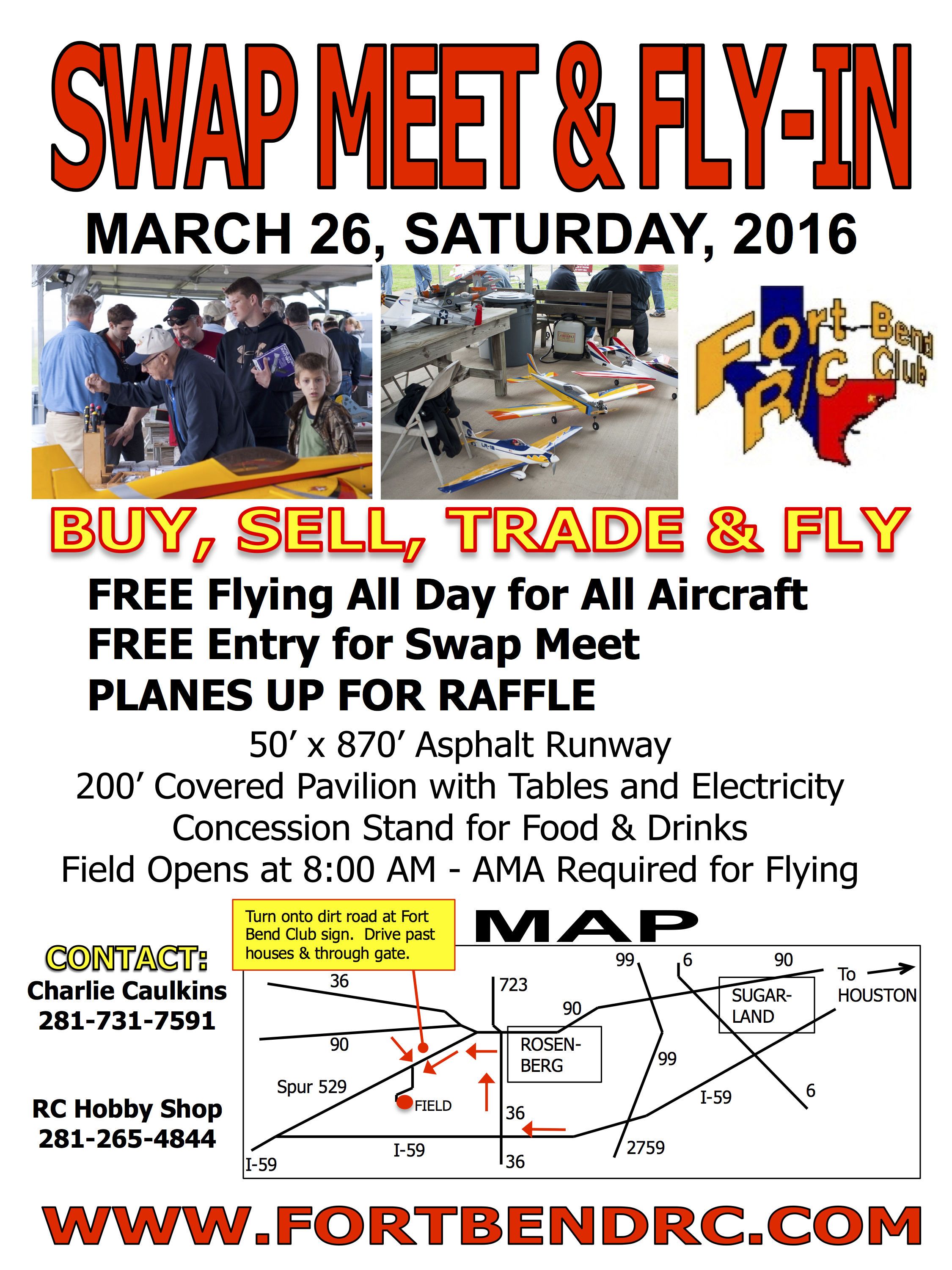 Swap Meet & Fly-In Flyer, 2016-03